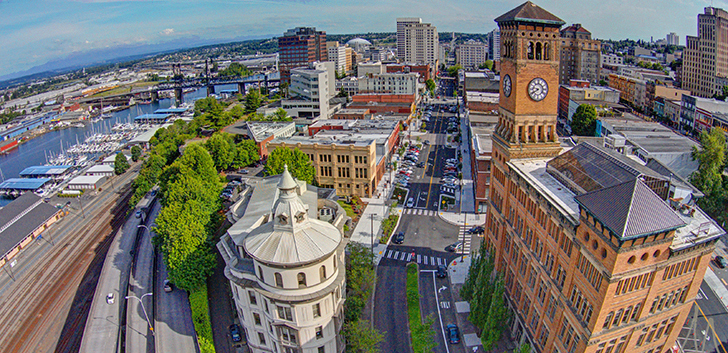 Downtown Tacoma aerial