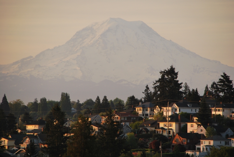 mount rainier, old town, tacoma