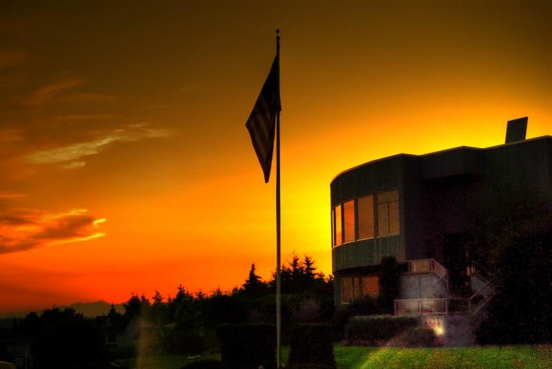 sunset, olympics, north tacoma