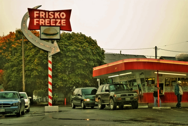 frisko freeze, rain, tacoma, restaurant