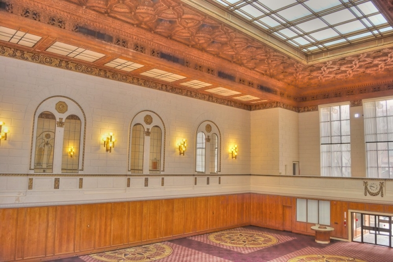 lobby, bank of california