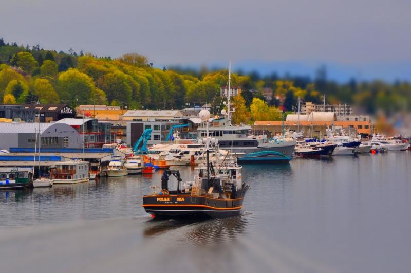 ballard bridge, seattle, ship canal