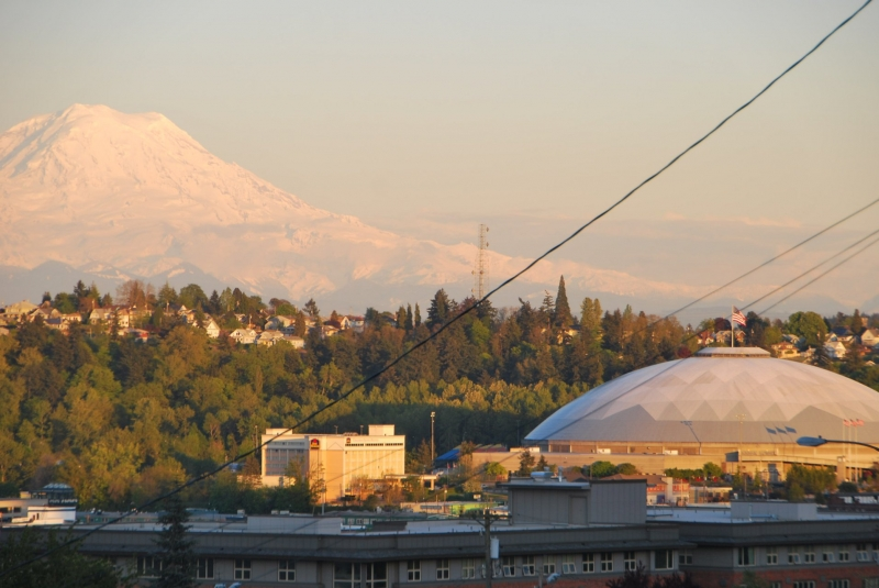 tacoma dome, mount rainier