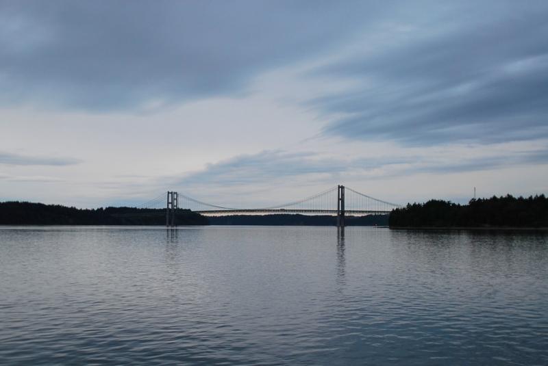 narrows bridge, narrows passage, puget sound