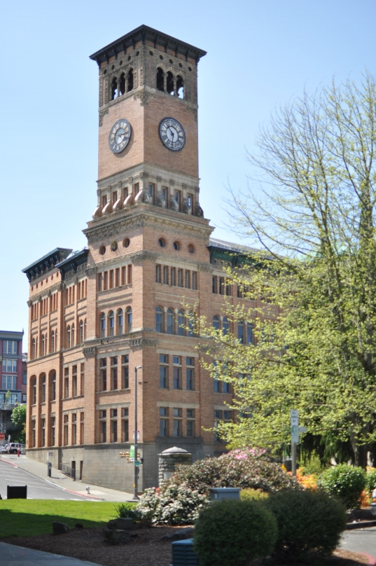 old city hall, tacoma, clock tower