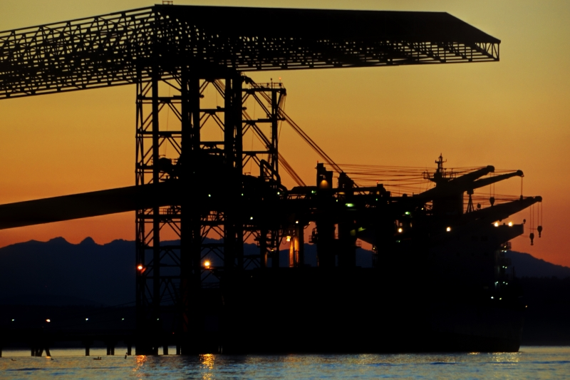 grain, dock, commencement bay, tacoma