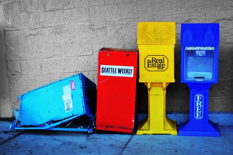 westgate, vandalism, tacoma, newspaper, box, smashed, pearl street