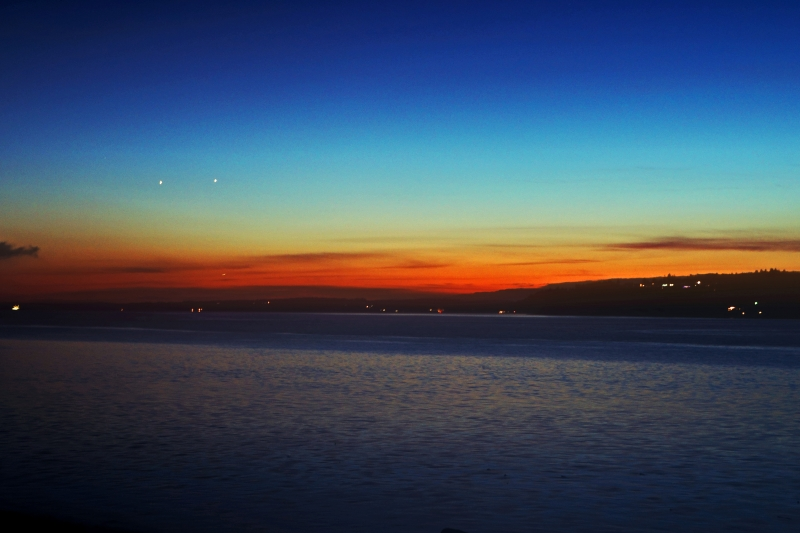 day island, sunset, december