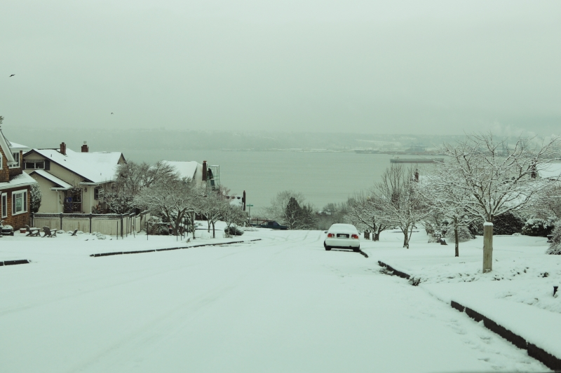 snow, 2012, commencement bay, north end