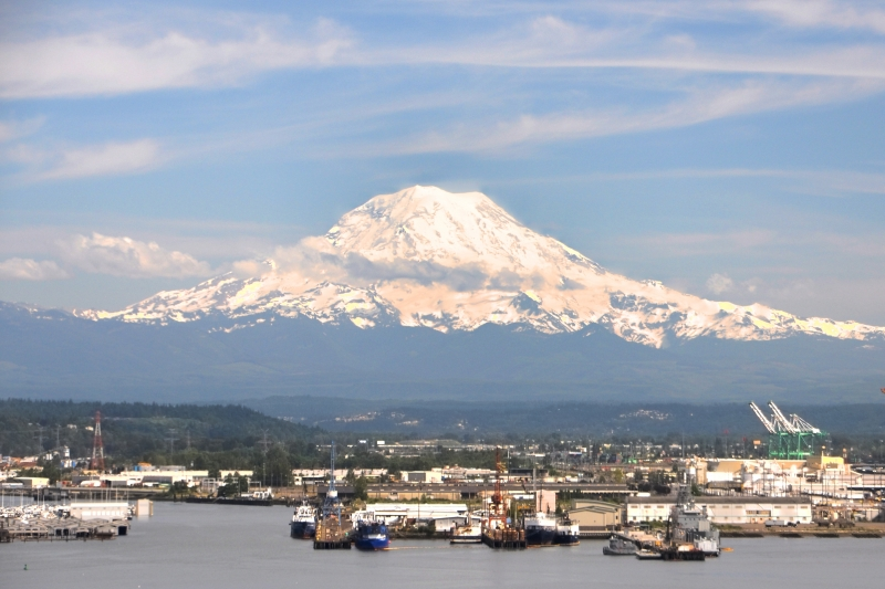 mount rainier, cliff house, port of tacoma