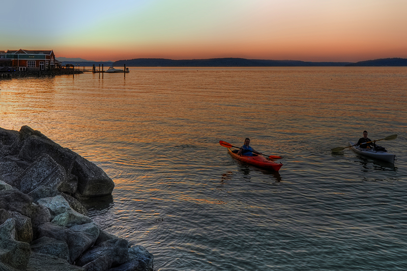 kayaks, commencement bay, ram