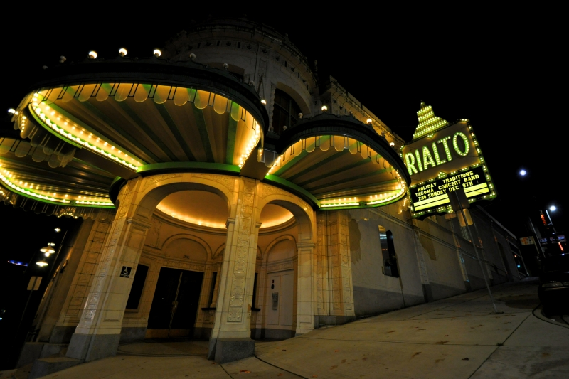 rialto, theater, tacoma, downtown, sign, lights