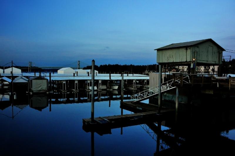 narrows marina, bridge, boat lift, puget sound, tacoma