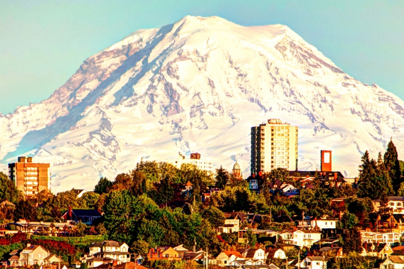 mt rainier, tacoma, stadium district, north slope