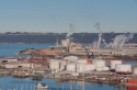port of tacoma, perkins roof, view