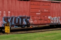 graffiti, train, ruston way