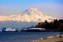 mount rainier, vashon ferry, point defiance, marina