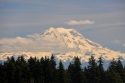 mount rainier, snow, clouds