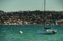 sailboat, commencement bay, ruston way, waterfront, tacoma