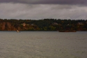tug boat, narrows passage, puget sound, autumn