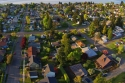 north end, neighborhood, aerial, view