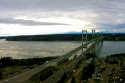 aerial, tacoma, narrows, bridge, drone