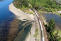 aerial, titlow, beach, park, train, tacoma