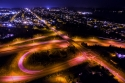 tacoma, aerial, jackson, highway 16, night, long exposure